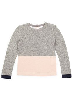 Girls Colour Block Sweater
