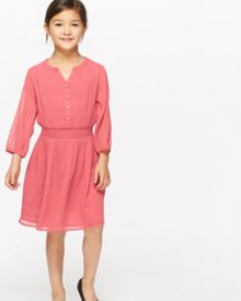 Jigsaw Girls Fil Coupe 3/4 Sleeve Dress