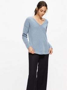 Jigsaw Wool Cashmere Dropped Hem