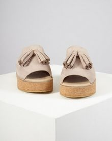 Jigsaw Zoey tassel cork sliders