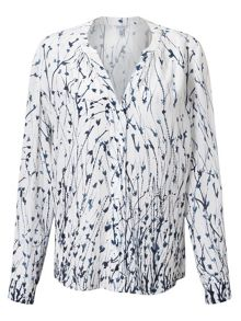 Jigsaw Cornflower Silk Blouse