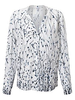 Cornflower Silk Blouse
