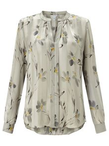 Jigsaw Floating Aster Silk Blouse