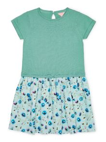 Jigsaw Girls Dandelion Print 2-1 Knit Dress