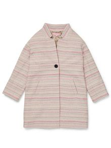 Jigsaw Girls Stripe Jacquard Coat