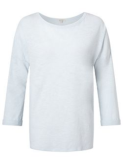 Cotton Slub Slouchy Tee