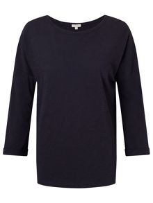 Jigsaw Cotton Slub Slouchy Tee