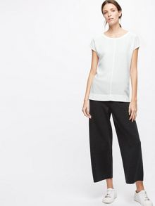 Jigsaw Silk Front Stitch Detail Top