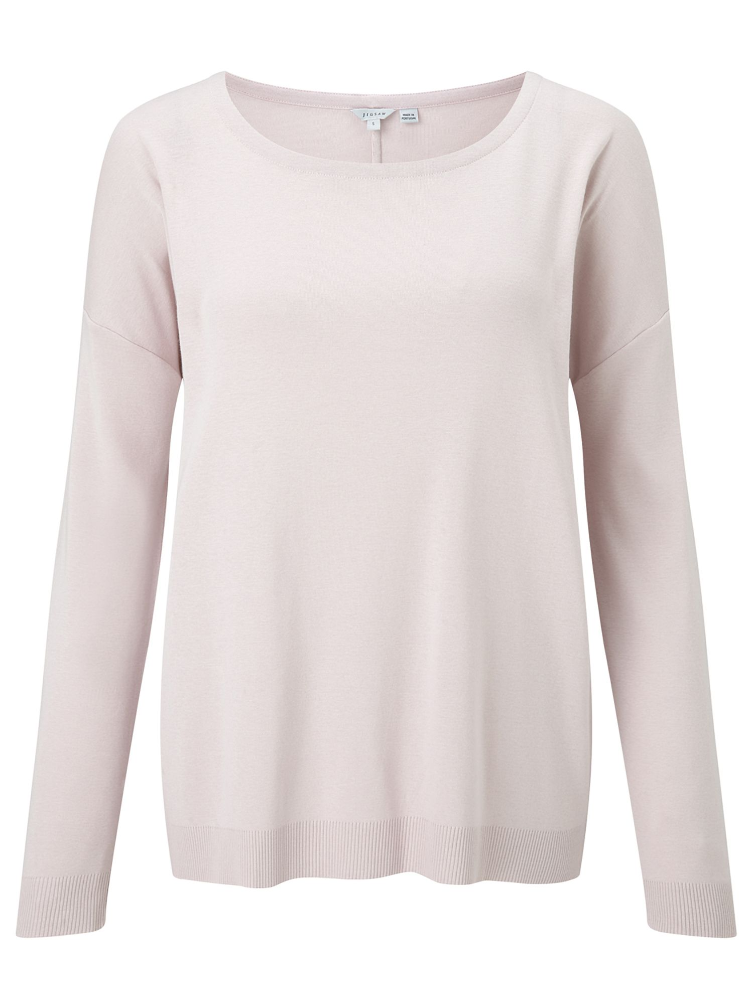 Jigsaw Slouchy Rib Hem Basic, Rose