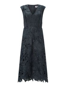 Jigsaw Leaf Lace Dress