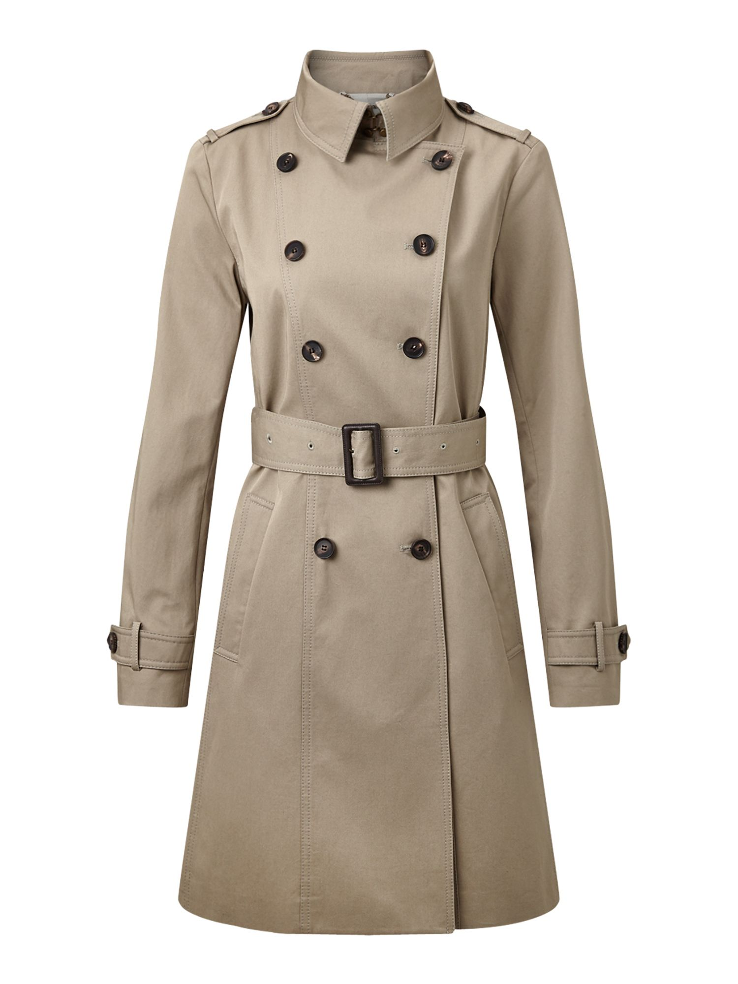 Jigsaw Trench Coat, Brown