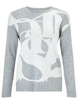 Embossed Letter Jumper