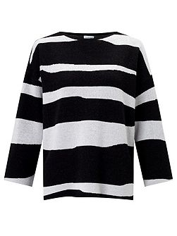 Letter Stripe Jumper