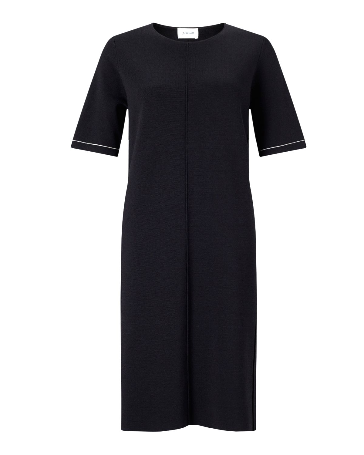 Jigsaw Clean Knit Shift Dress, Midnight