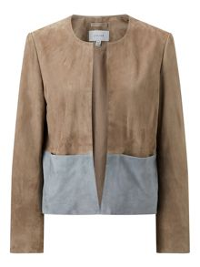 Jigsaw Colour Block Suede Jacket