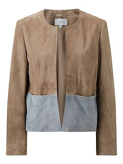 Colour Block Suede Jacket