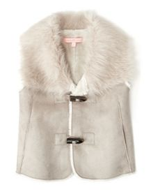 Jigsaw Girls Junior Faux Sheepskin Gilet