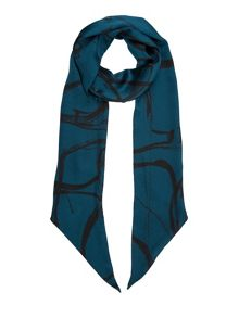 Jigsaw Text anarchy skinny scarf