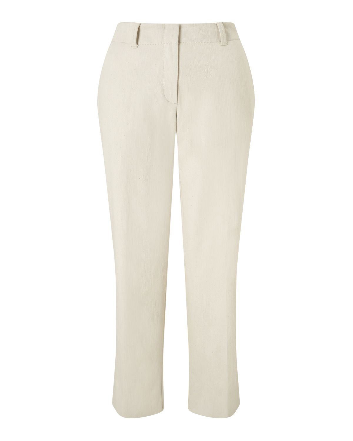 Jigsaw Cropped Straight Leg Chino, Cream