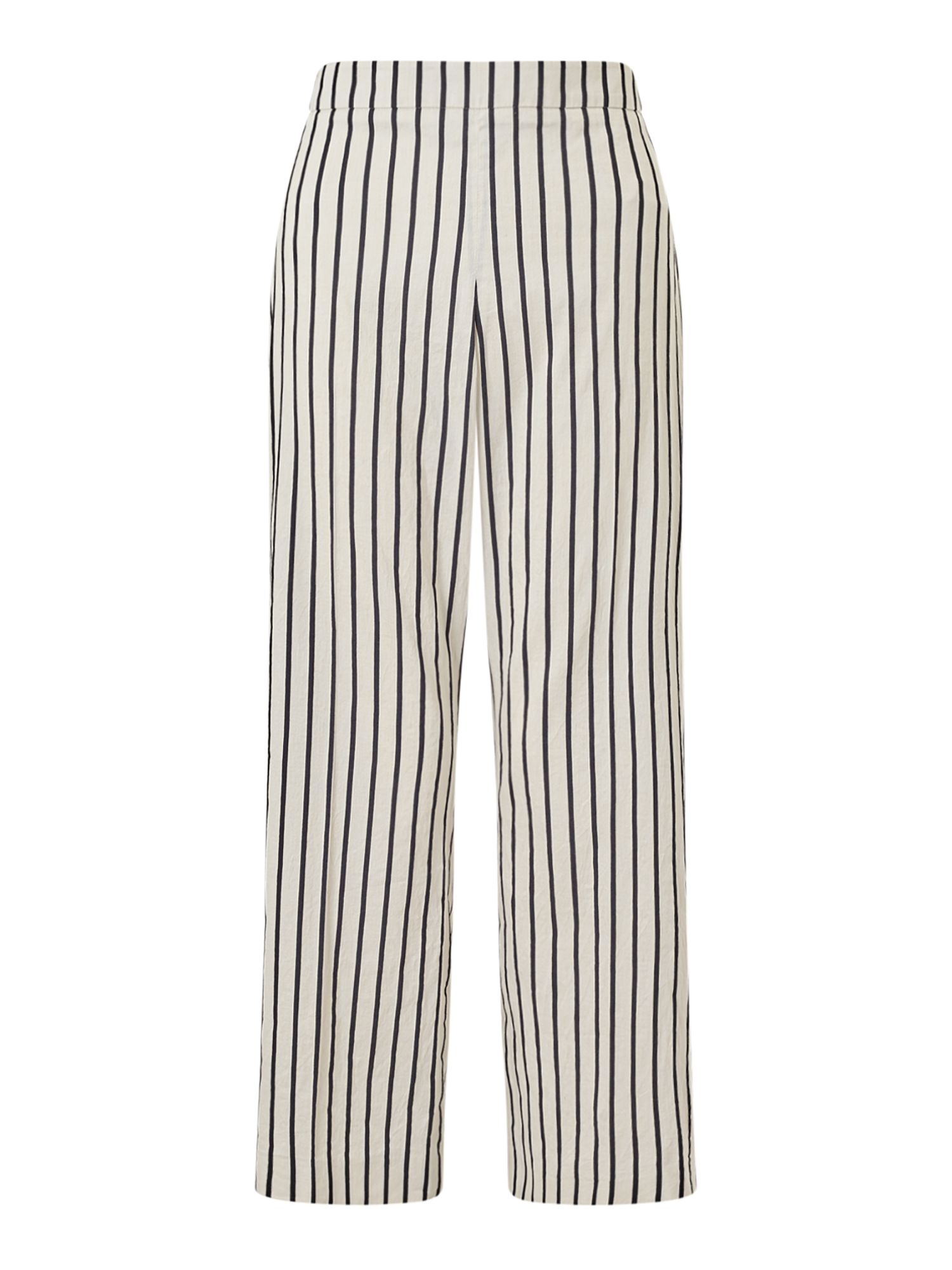 Jigsaw Stripe Linen Trouser, White