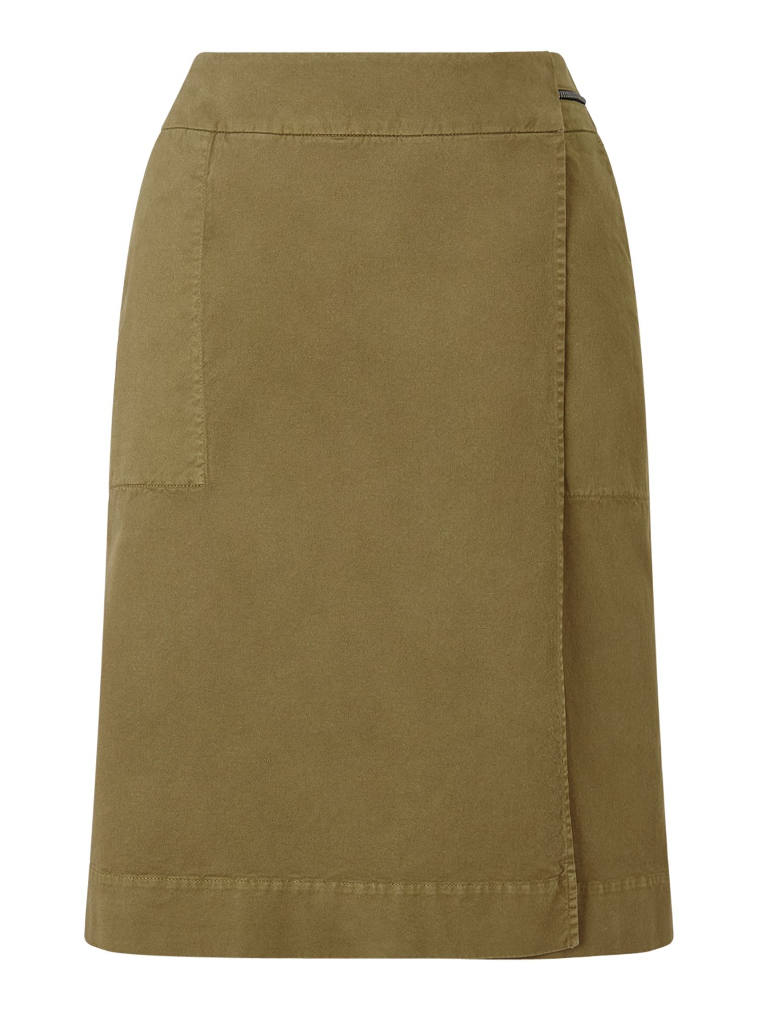 Jigsaw Zip Detail Utility Skirt, Green