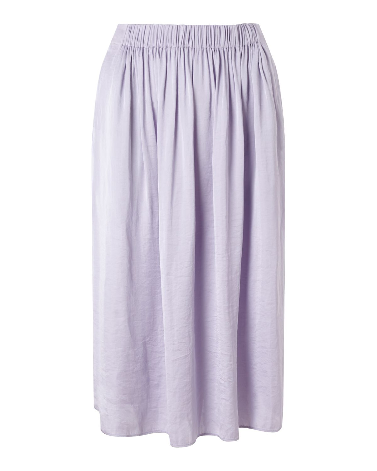 Jigsaw Crocus Drape Gathered Midi, Purple