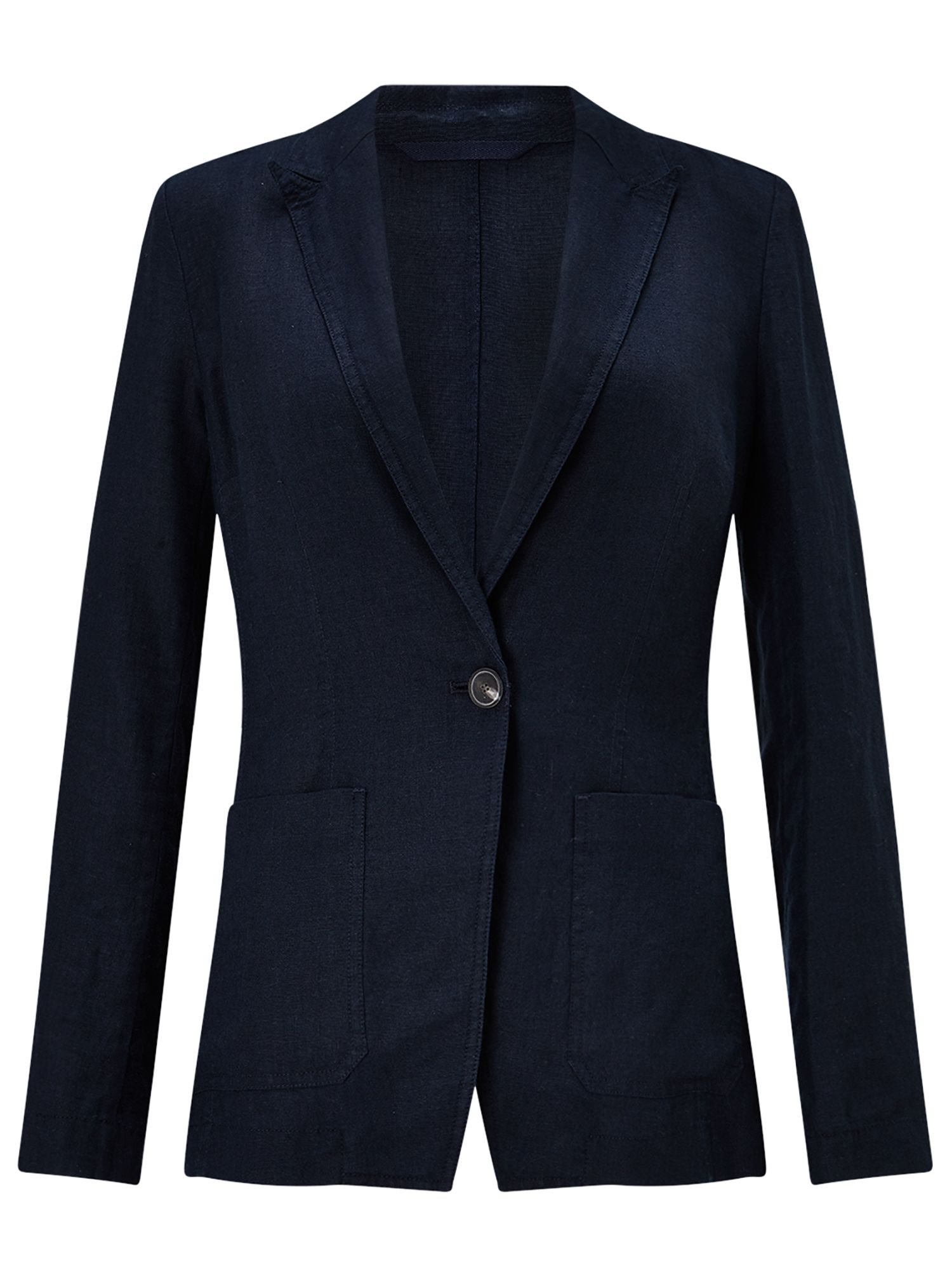 Jigsaw Louisiana Linen Jacket, Blue