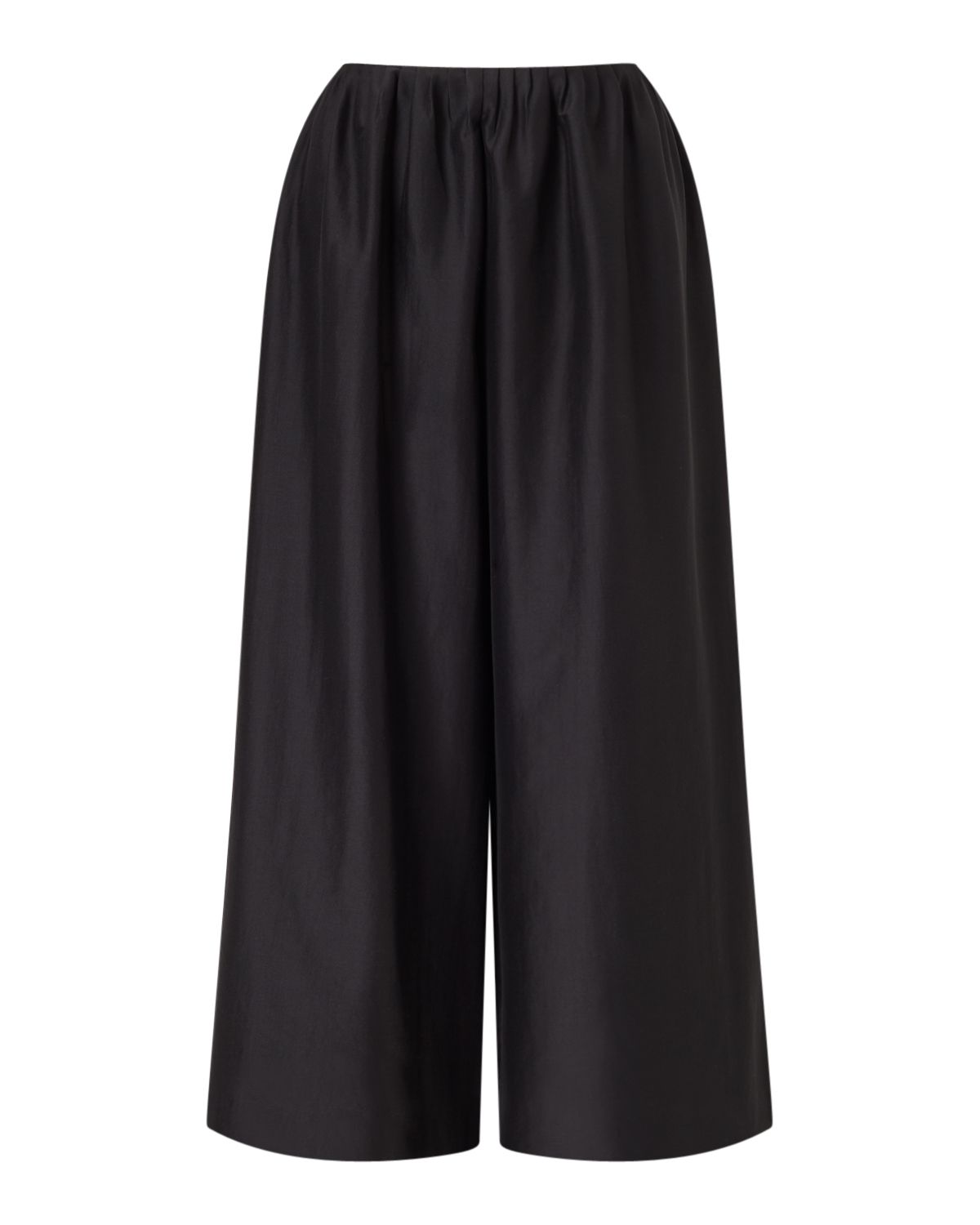 Jigsaw Wide Leg Feather Trouser, Black