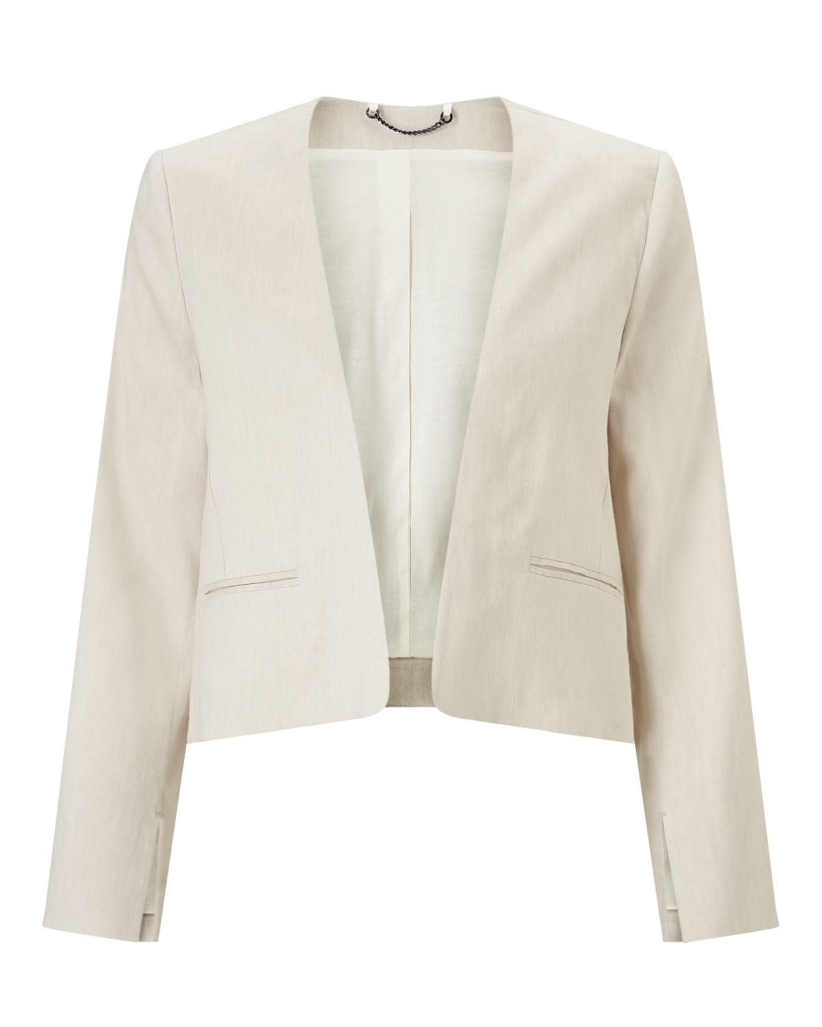 Jigsaw Linen Flow Jacket, White