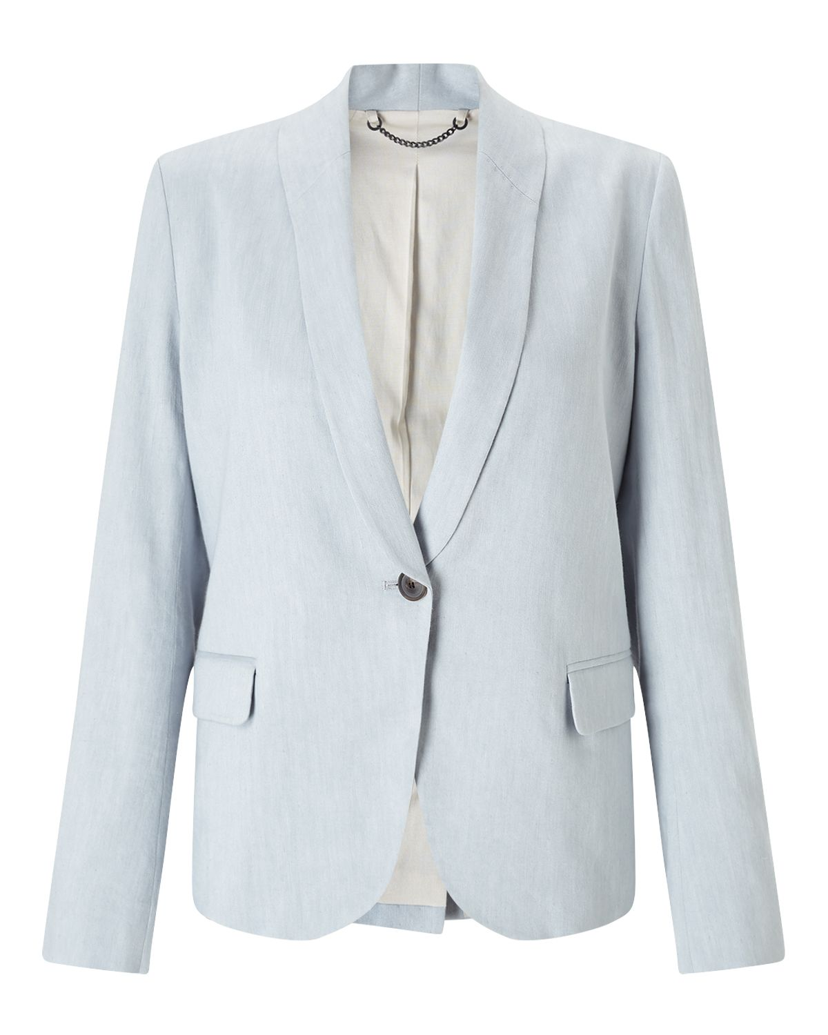 Jigsaw Portofino Shawl Collar Jacket, Grey