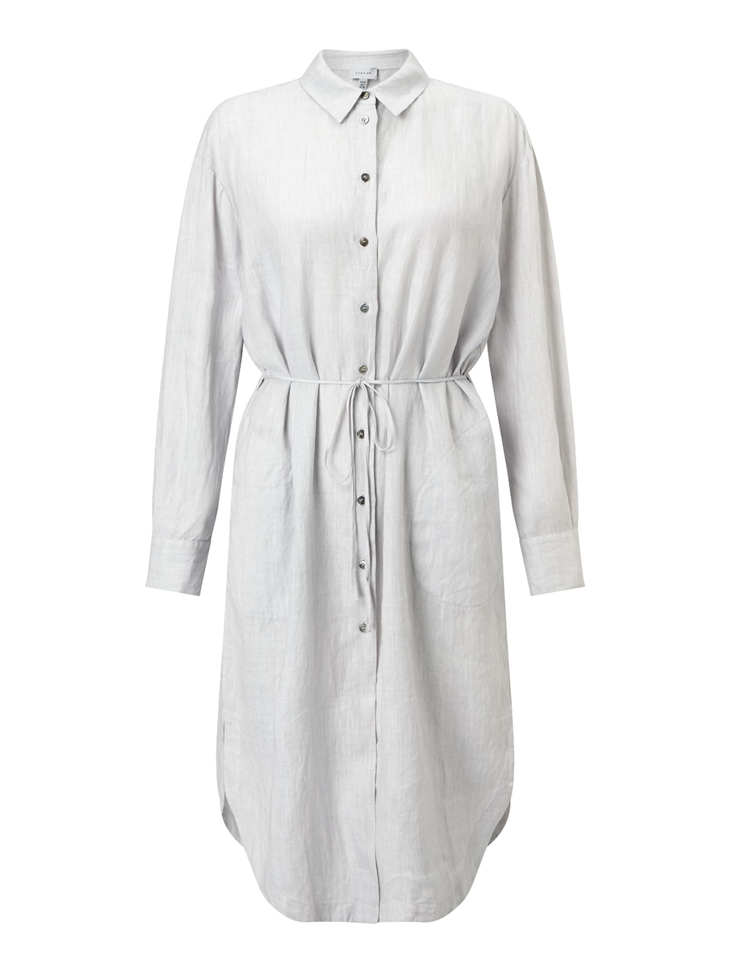 Jigsaw Linen Shirt Dress Grey