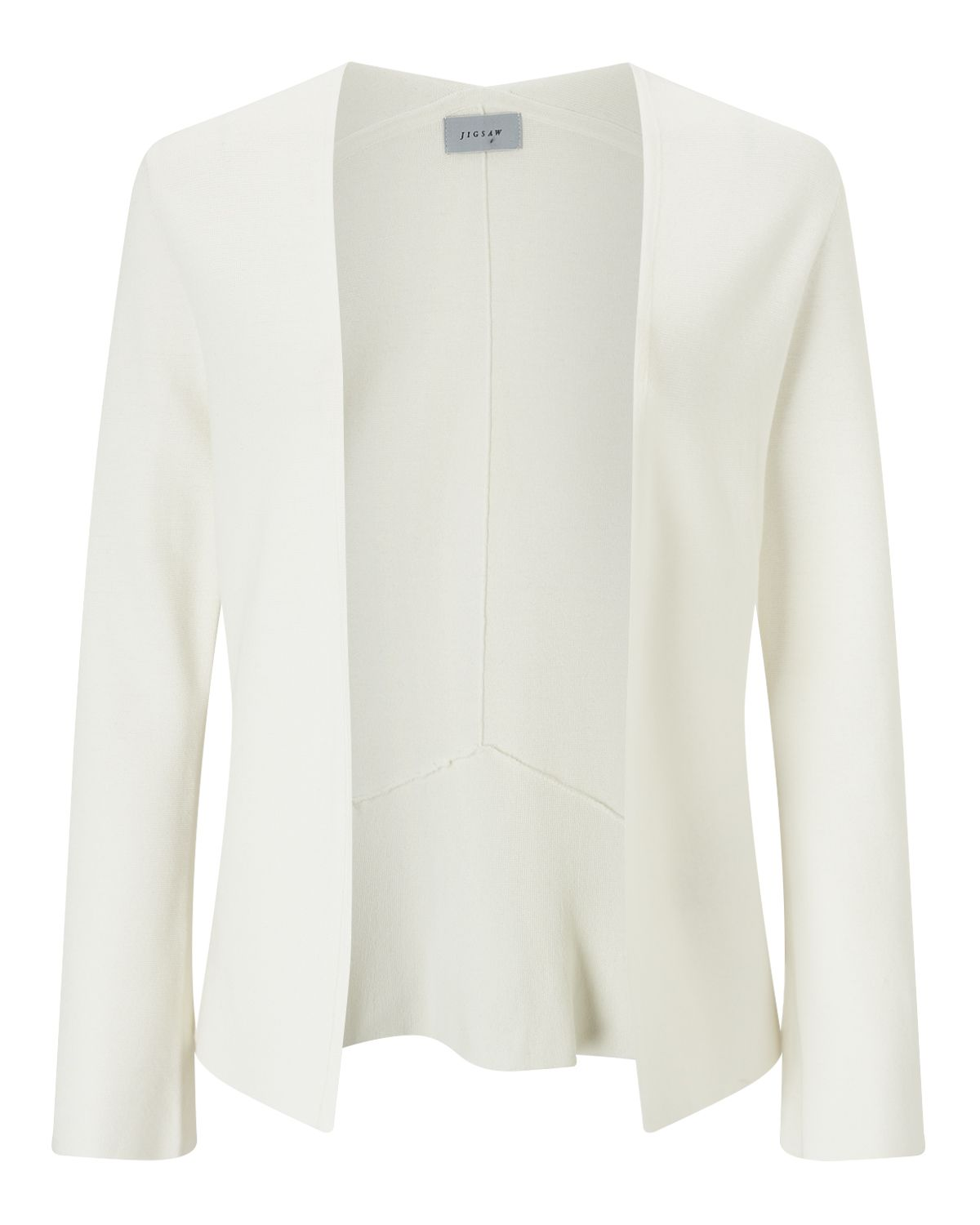 Jigsaw Flute Back Knit Jacket, White