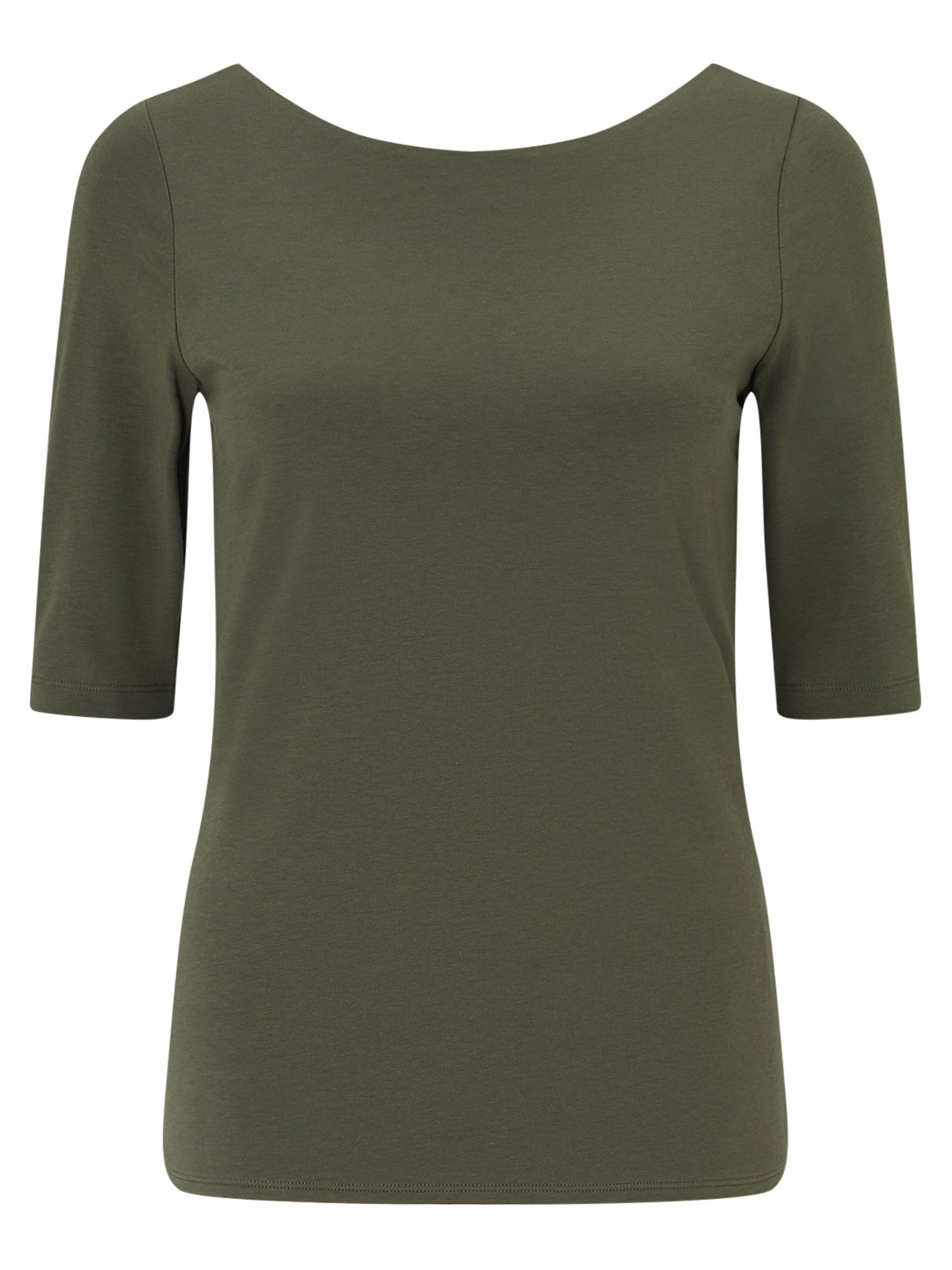 Jigsaw Double Front Ballet Neck Tee, Green