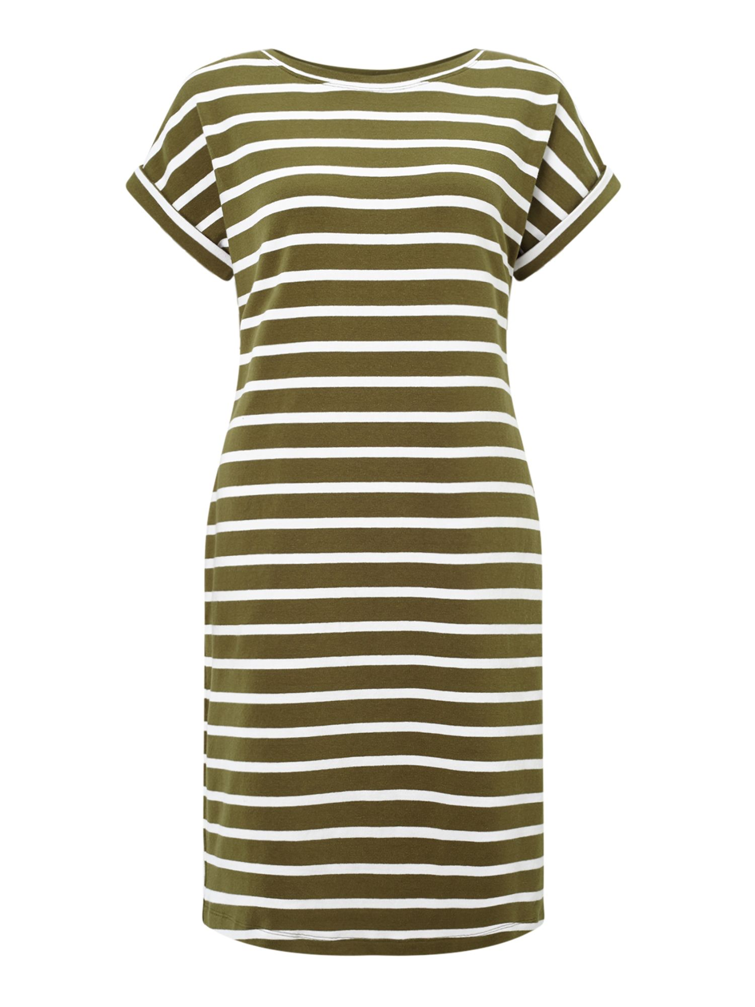 Jigsaw T Shirt S/s Breton Dress, Green