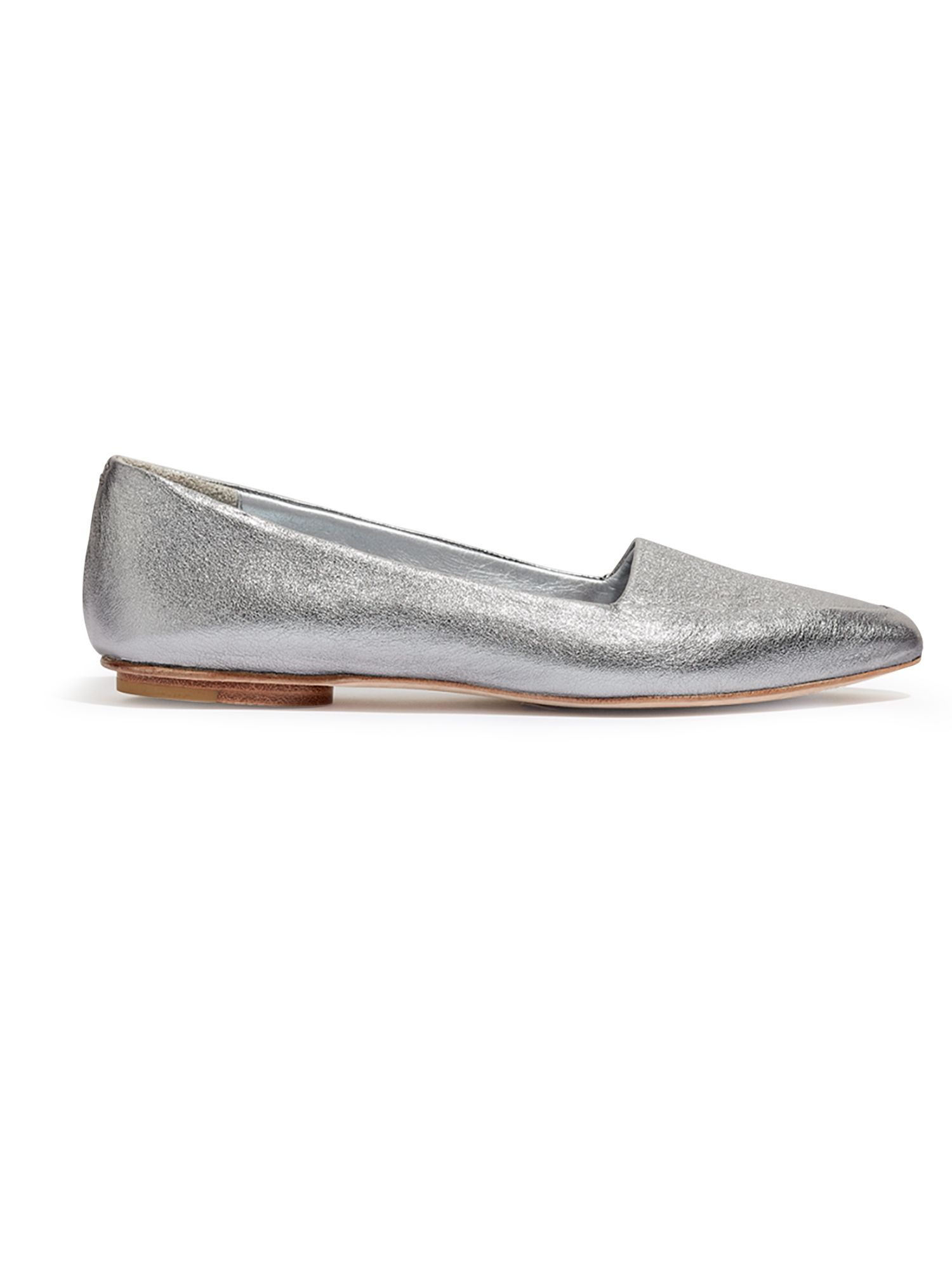 Jigsaw Clarence flat shoes, Pewter