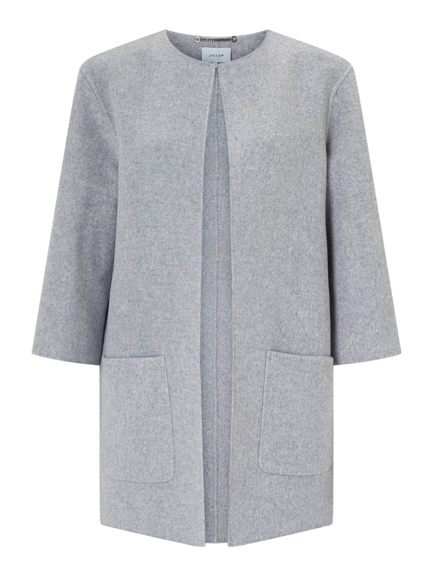 Jigsaw Double Faced Jacket, Grey