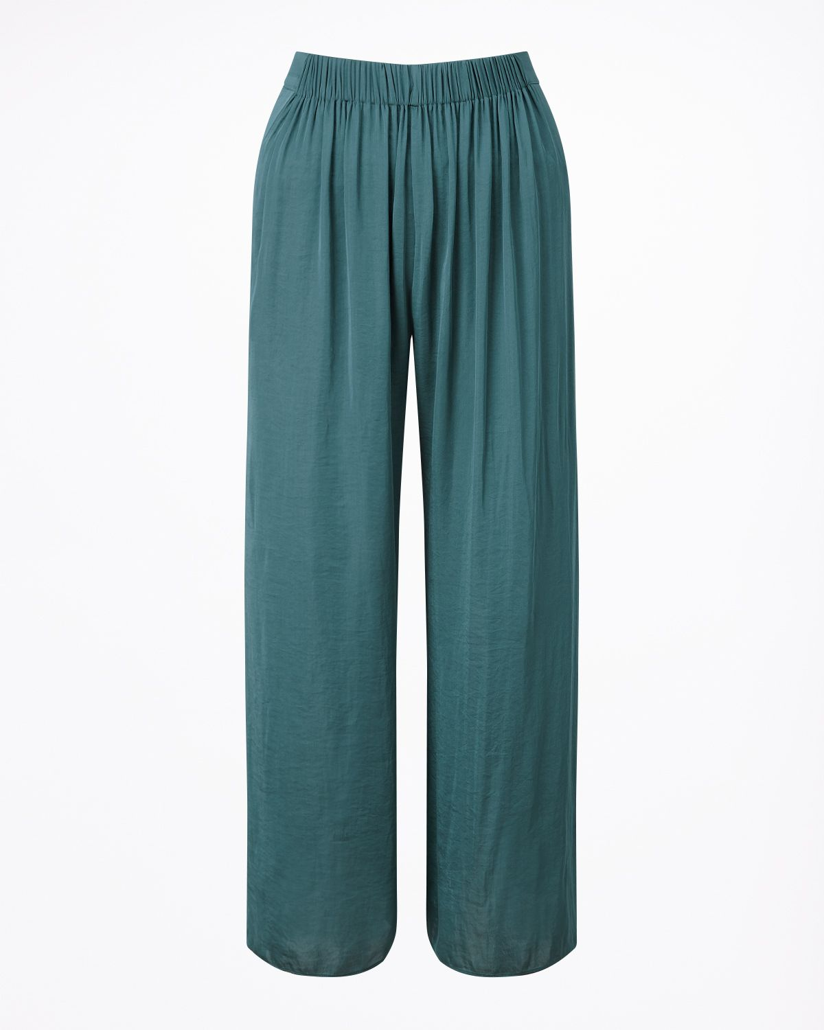 Jigsaw Crocus Drape Gathered Trouser, Green