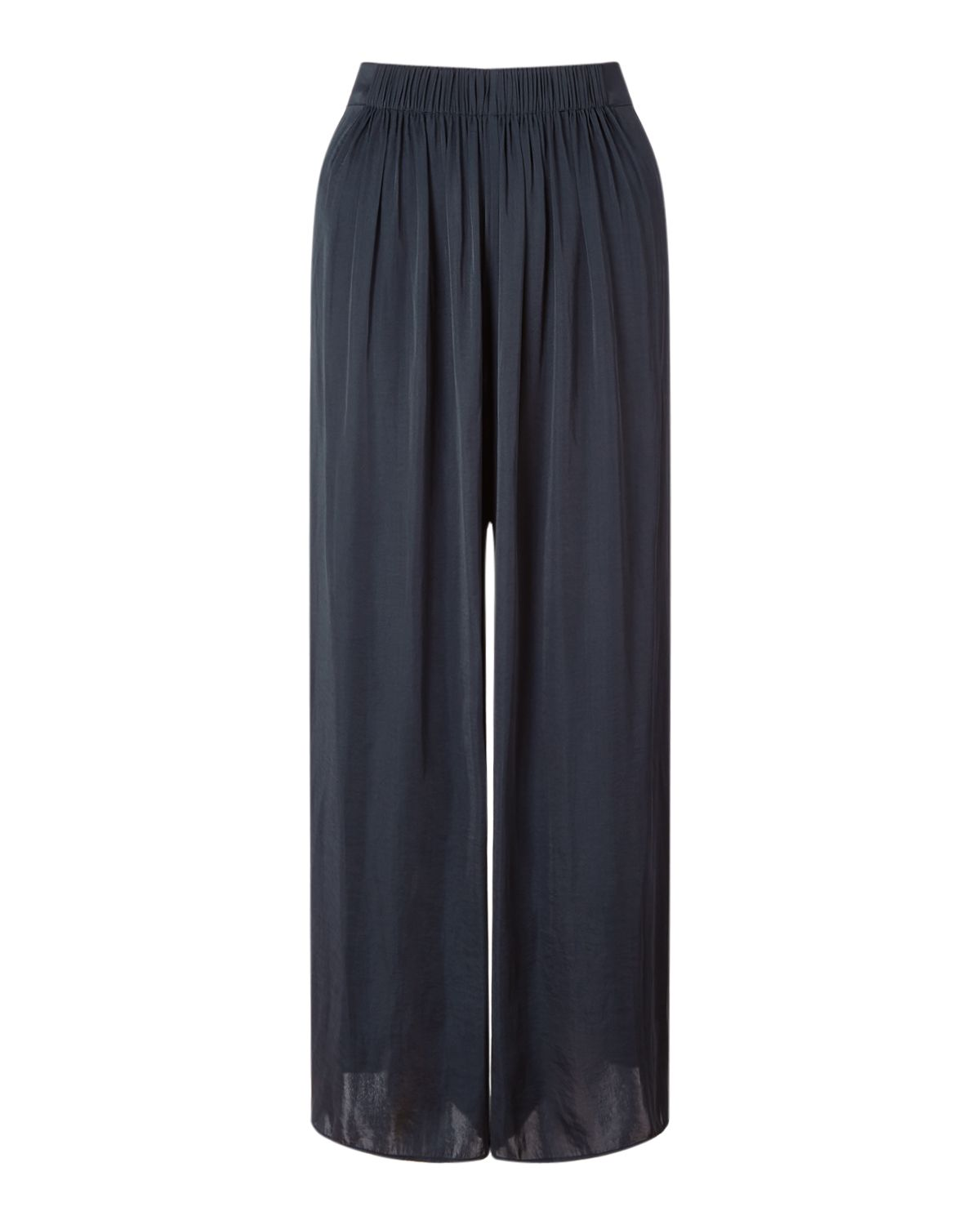 Jigsaw Crocus Drape Gathered Trouser, Blue