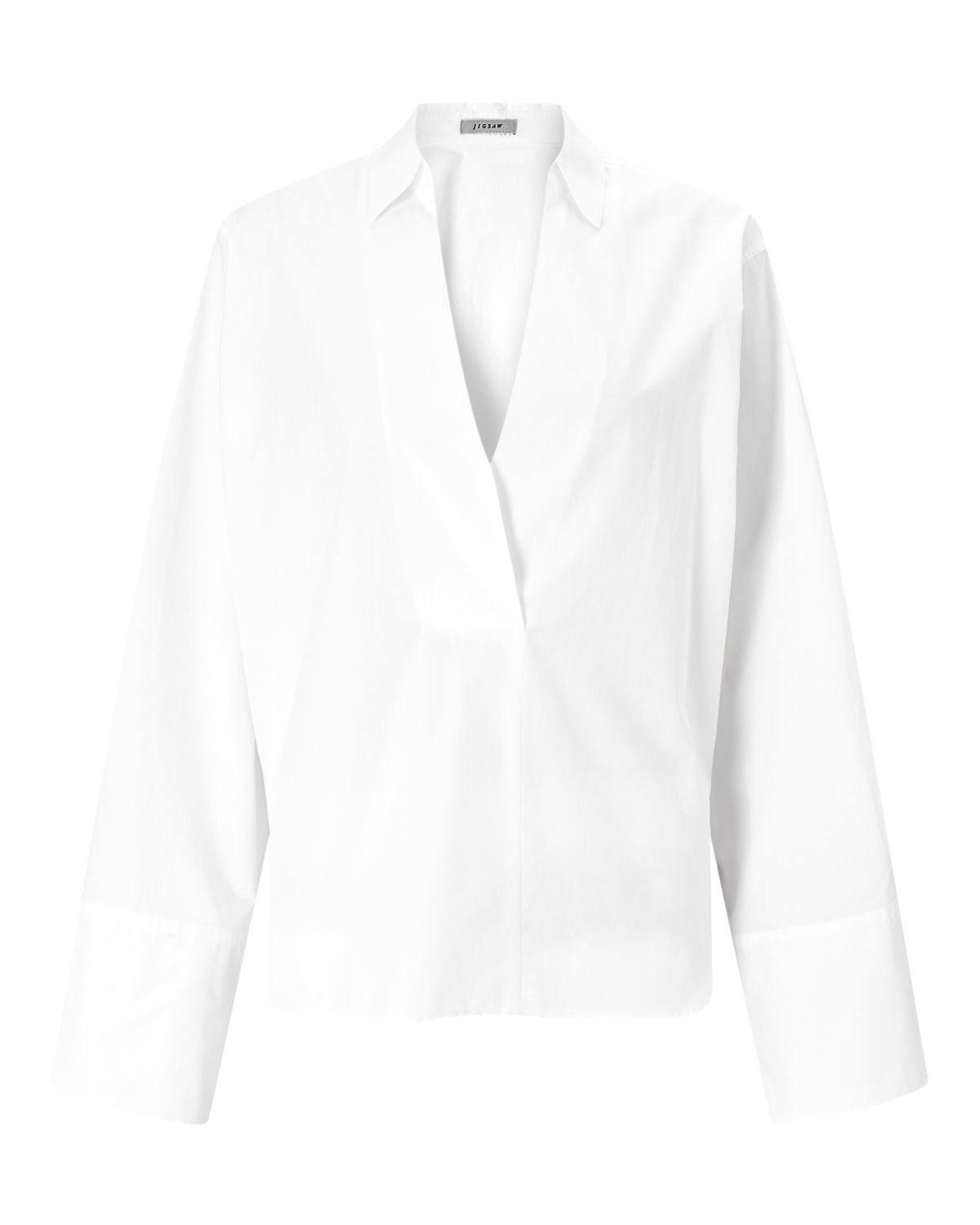 Jigsaw Cotton Poplin Shirt, White