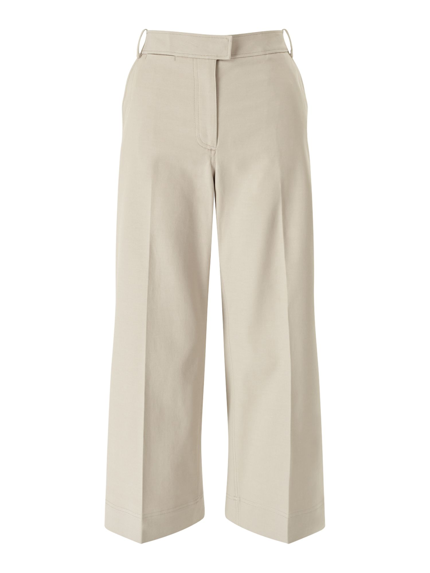Jigsaw Lux Panama Crop Flare Trouser, Cream