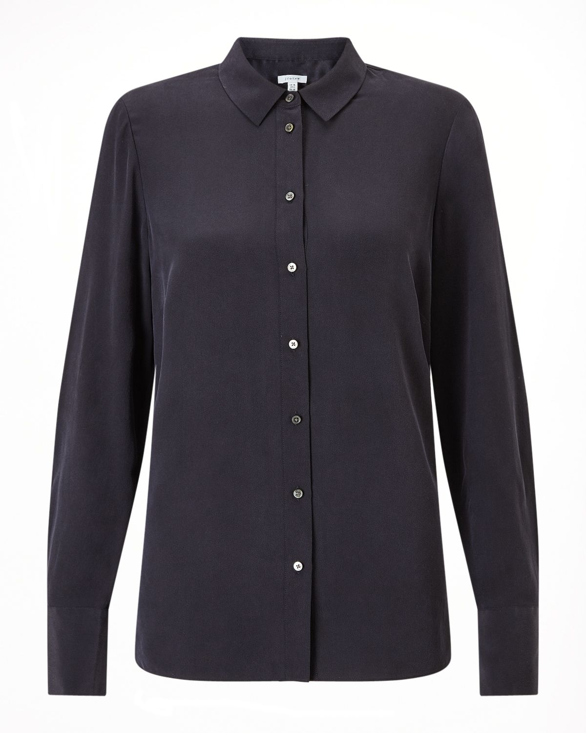 Jigsaw Silk Shirt, Blue
