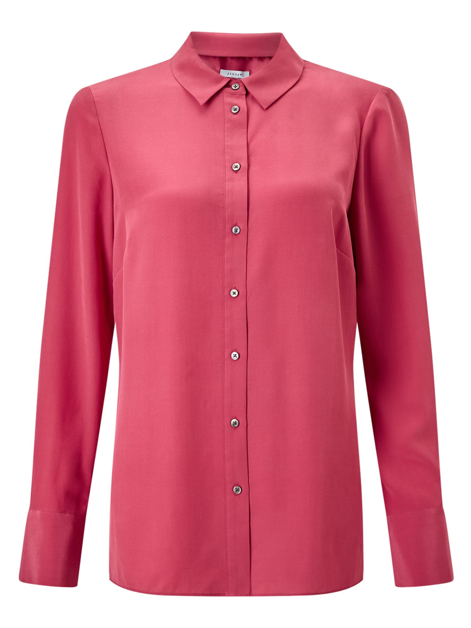 Jigsaw Silk Shirt, Pink