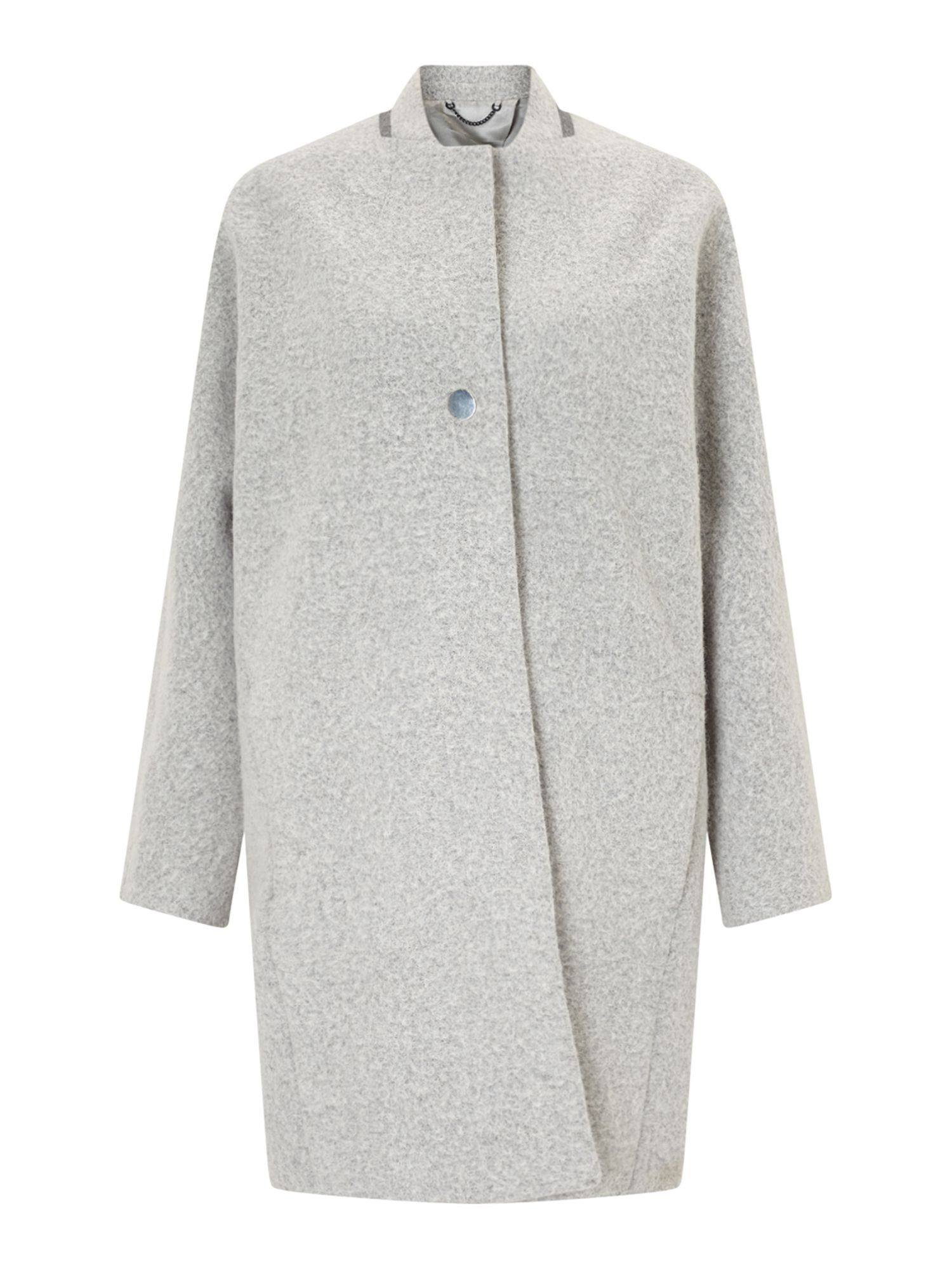 Jigsaw Alpaca Cocoon Coat, Grey