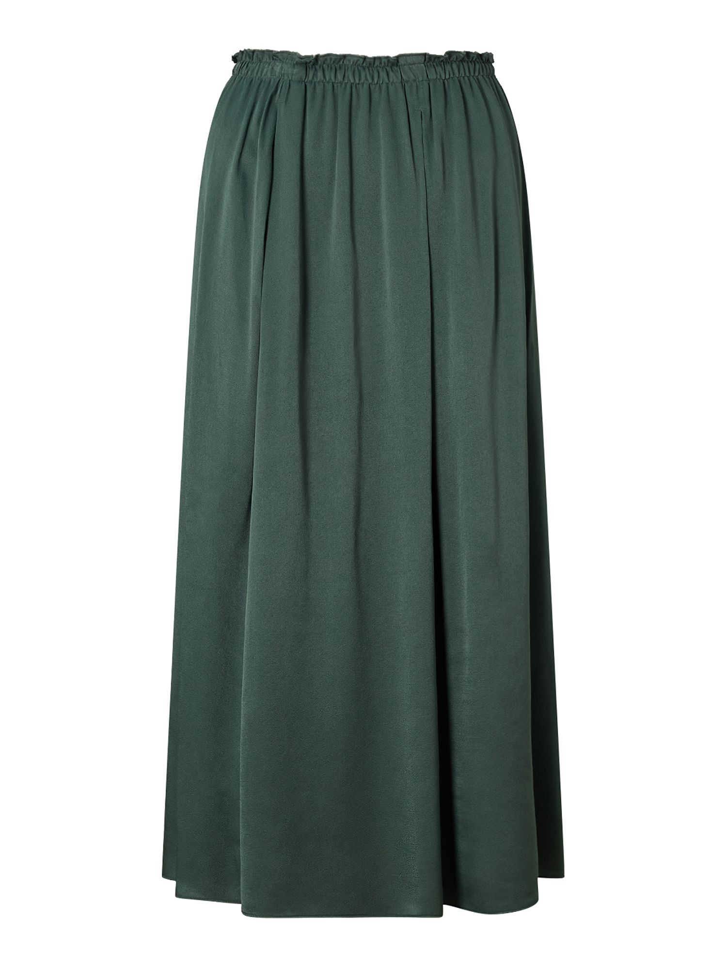 Jigsaw Heavy Satin Fluid Skirt, Green