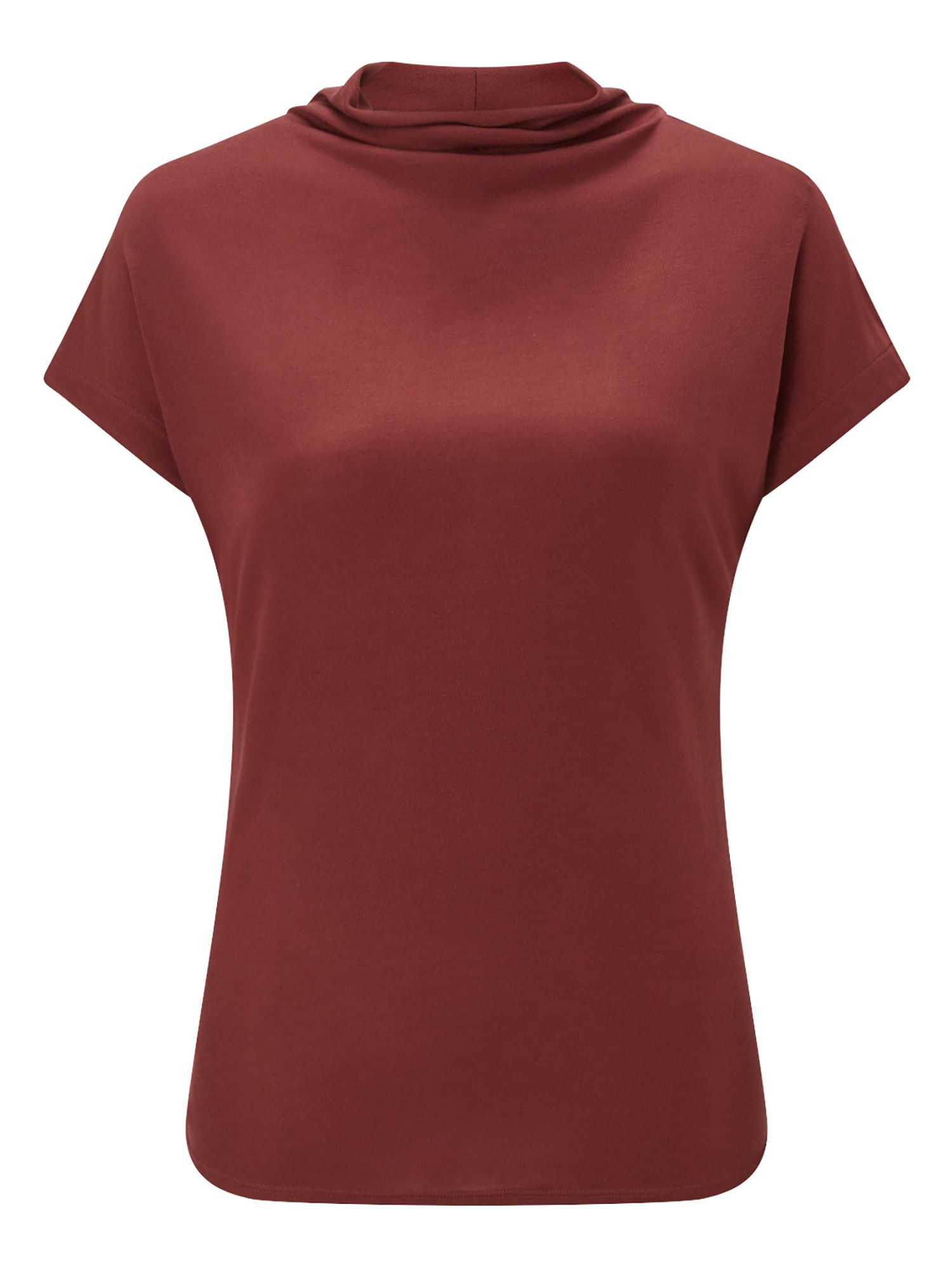 Jigsaw Turtleneck Cap Sleeve Tee, Red