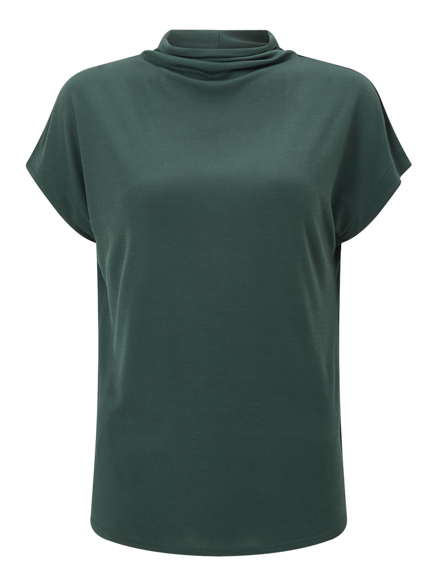 Jigsaw Turtleneck Cap Sleeve Tee, Green
