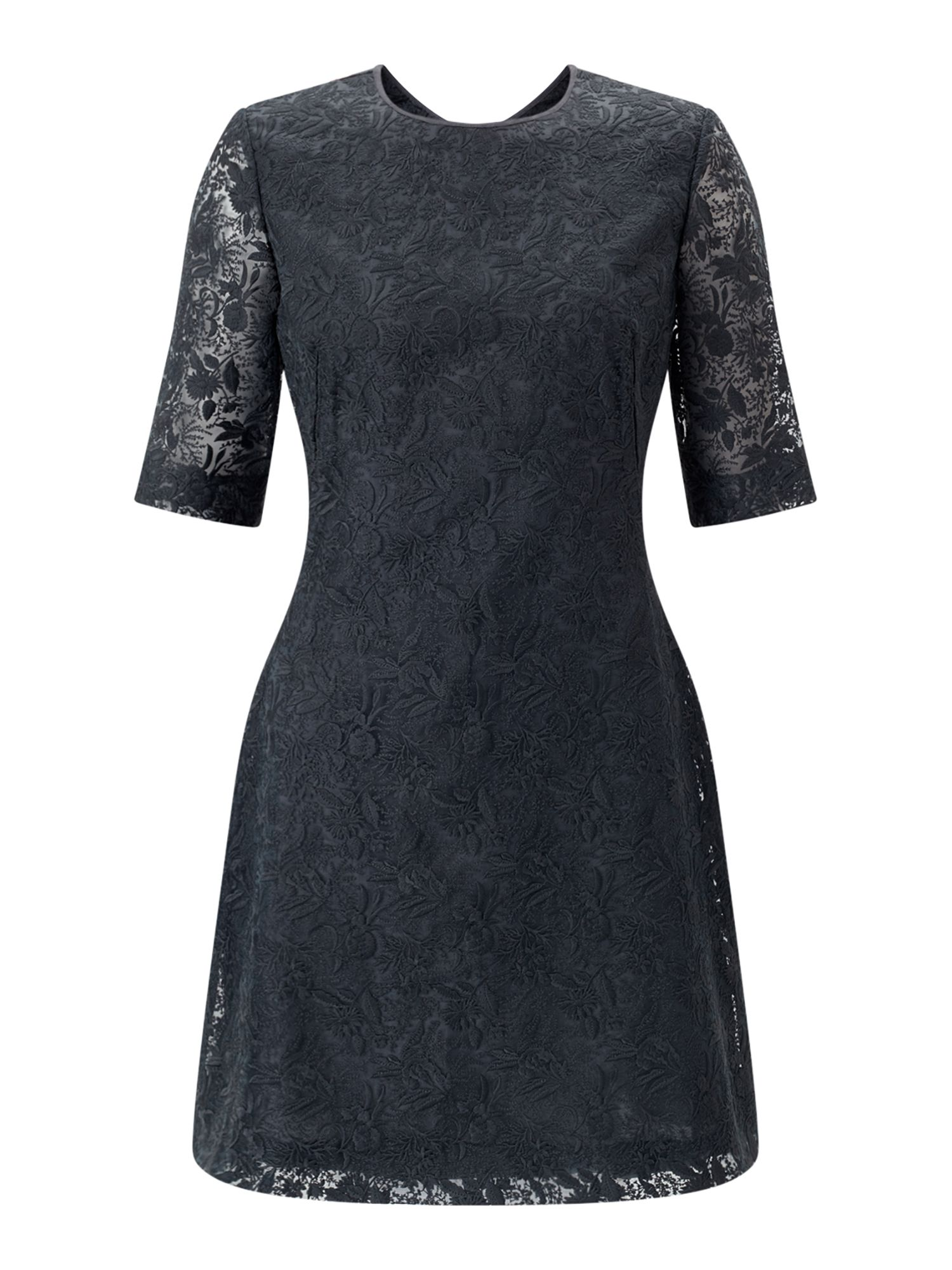 Jigsaw Iris Lace Dress, Grey
