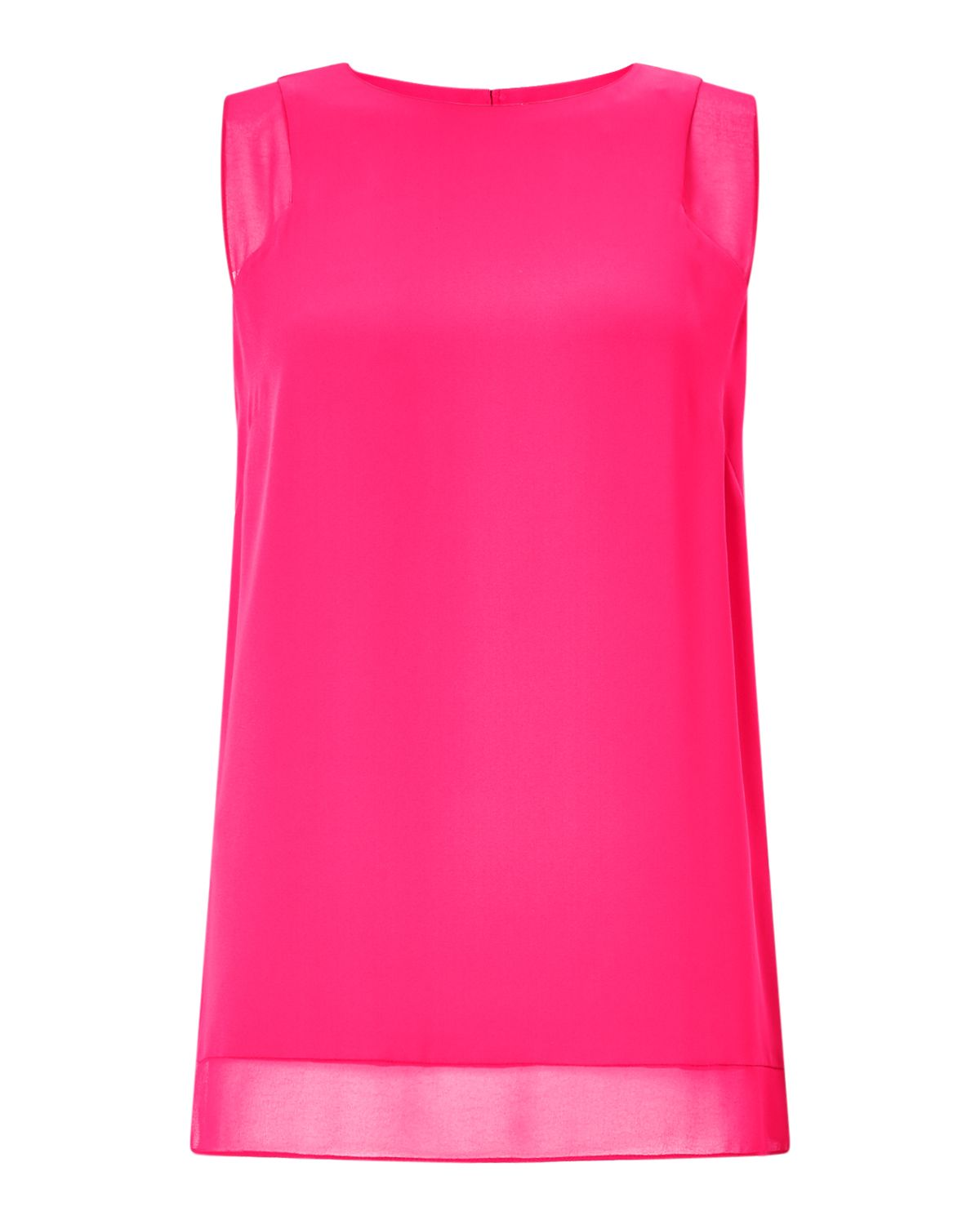 Jigsaw Sheer Detail Vest Top, Pink