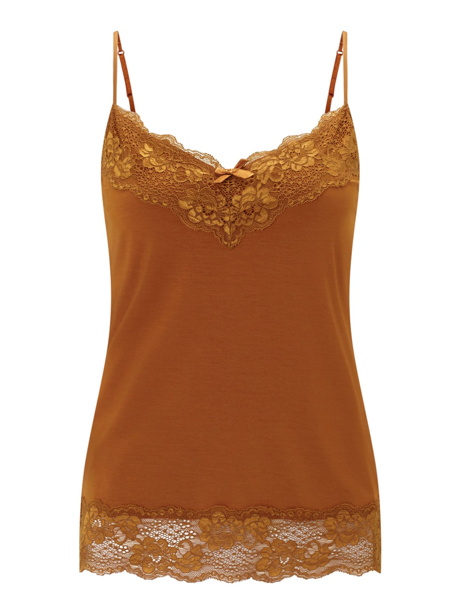 Jigsaw Modal Lace Vest, Orange