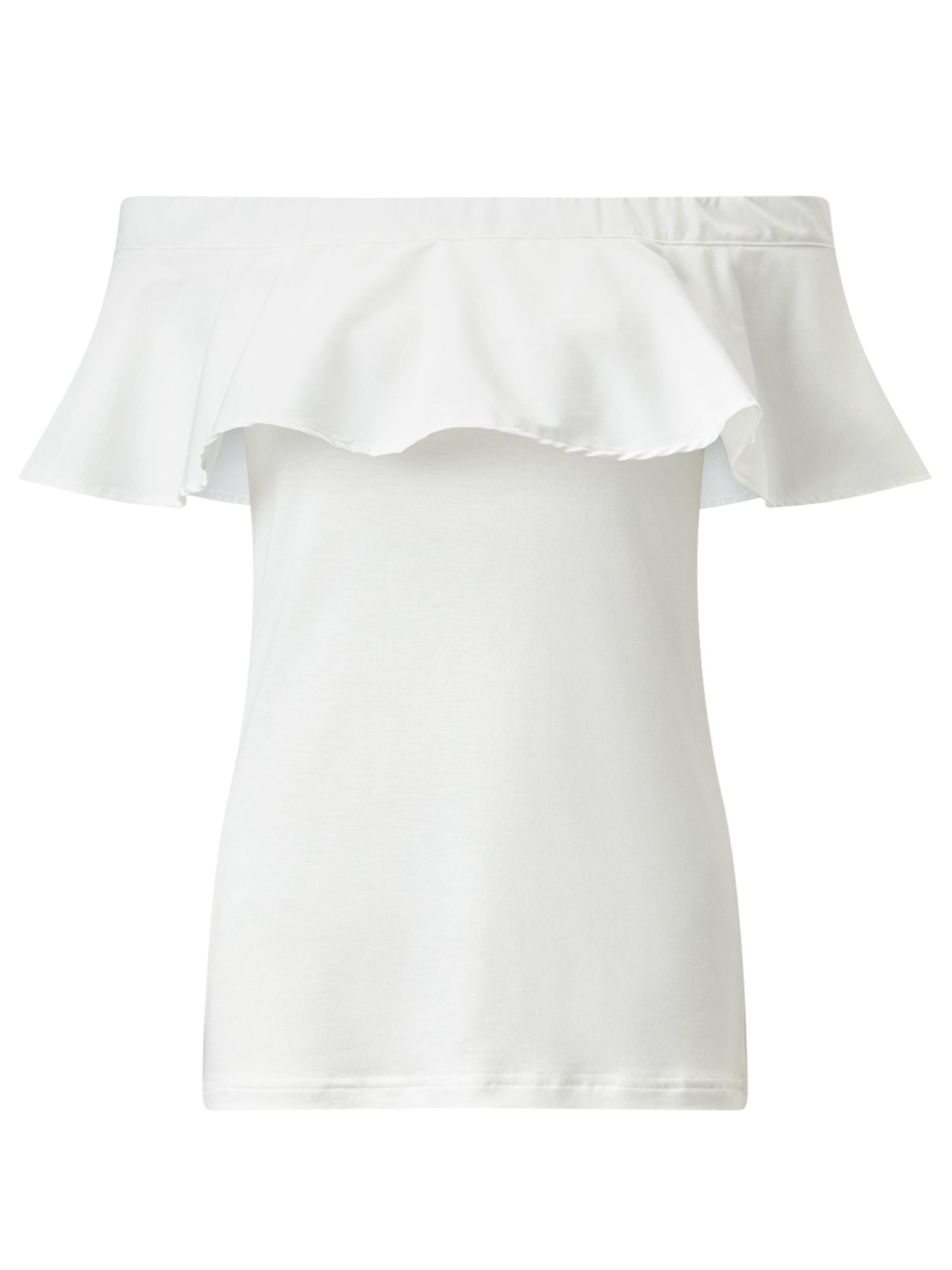 Jigsaw Frill Off The Shoulder Top, Cream